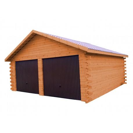 Garaż z bali 600x600 balik 66mm dwustanowiskowy