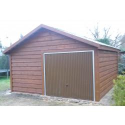 Garaż szkieletowy drewniany 600x570 dwustanowiskowy